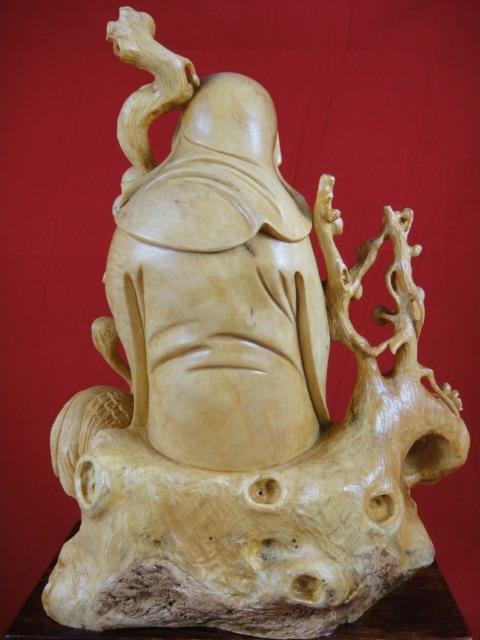 批发采购木质工艺品-黄杨木雕/林和靖